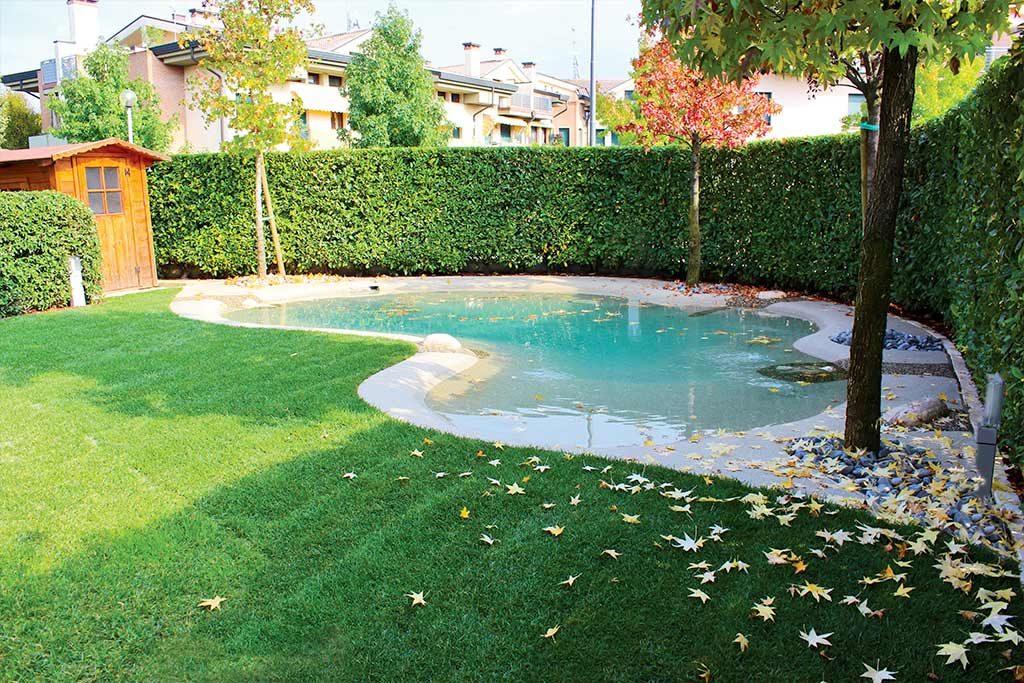 Pool im herbstlichen Touch