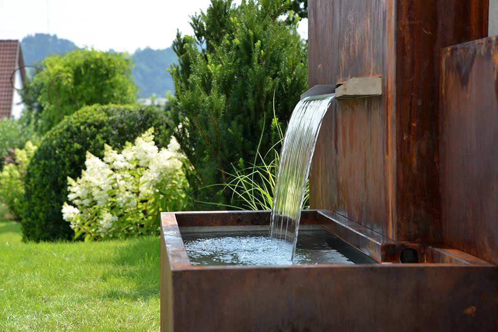 Wassereinlauf eines Wasserspieles